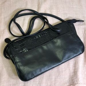 Private Label Croc Embossed Leather Crossbody Bag